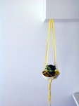 And there it is! A macrame water plant hanger with hydrogel